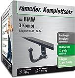 RAMEDER Komplettsatz, Anhängerkupplung abnehmbar + 13pol Elektrik für BMW 3 Kombi (123377-10266-4)