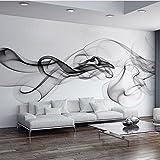 250 cmX 175 cm individuelle Fototapete Moderne 3D Wandbild tapeten schwarz Weißer Rauch Nebel Art Design Schlafzimmer Büro Wohnzimmer Wand Papier, 250 cmX 175 cm