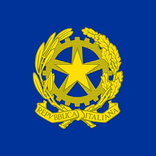 magFlags Flagge: Large Presidential Standard of Italy 1965-1990   The Standard of The President of The Italian Republic as Used from 22 September 1965 to 22 March 1990   Fahne 1.35m²   120x120