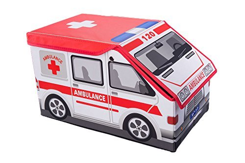 Ambulance Collapsible Toy Storage Box and Closet Organizer for Kids (Spiel Closet Organizer)