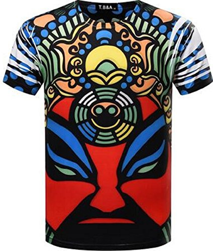 Men's 3D Fashion Computer Printed Short Sleeve O Neck Tee Shirt color 11