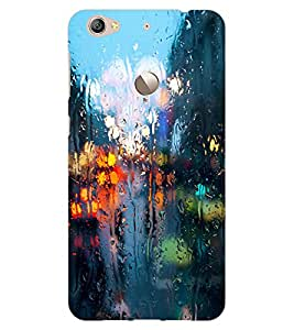 ColourCraft Water Drenched Mirror Design Back Case Cover for LeEco Le 1S