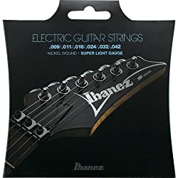 Ibanez IEGS6 Electric Guitar Strings, .009/.011/.016/.024/.032/.042 Gauge