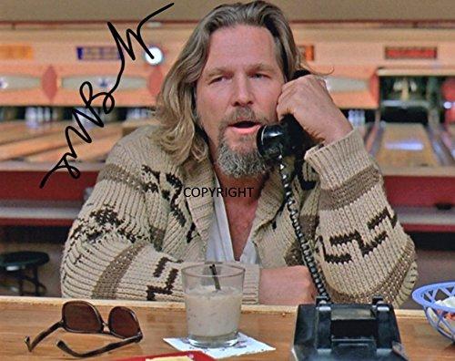 THEPRINTSHOP Foto mit Autogramm von Jeff Bridges The Big Lebowski, Limitierte Auflage, mit Zertifikat