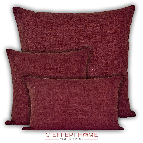 Cieffepi home collections cuscino arredo multicolor (60x60, bordeaux)