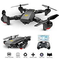 OKPOW 2MP 120° Wide Angle Selfie Drones 2.4G Foldable RC Quadcopter Wifi FPV Drone Altitude Hold 3D Flips Rolls 6-Axis Gyro Gravity Sensor RTF RC Drones by Okpow