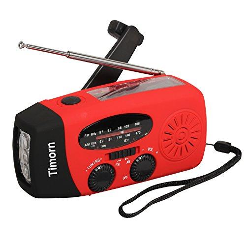 Timorn solare della manovella Auto Radio di emergenza alimentato con LED torcia elettrica AM / (Autoalimentato Torcia)