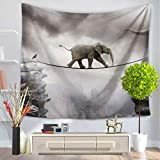 GuDoQi Tapisserie Elefant Seiltanz Wandteppich Wand Dekoration Home Decor Beach Blanket