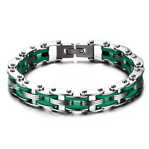 ysm-827-stainless-steel-bracelet-10mm-width-masculine-stainless-steel-with-silicone-210mm-heavy-duty