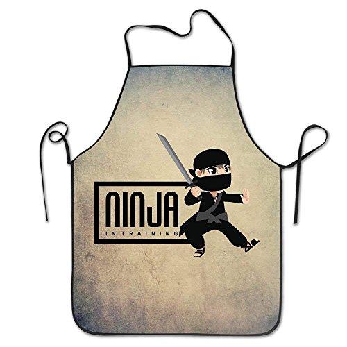 Superbe tablier de cuisine personnalisable Ninja en entraînement guerrier samouraï lavable en machine durable pour femme et homme barbecue, cuisine, travail, grill, pâtisserie, travaux manuels