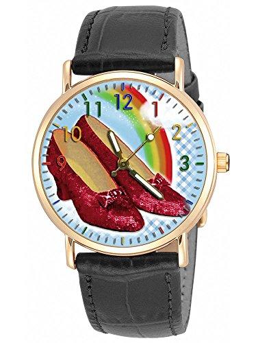 Ruby Rot Hausschuhe Symbolische Wizard Of Oz Kunst Mädchen Präsentation Armbanduhr
