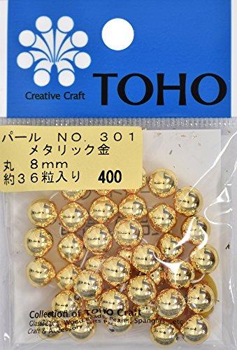 TOHO runde Perle Aussendurchmesser von etwa 8 mm No.301 Gold-ueber 36 Monate Eingabe -