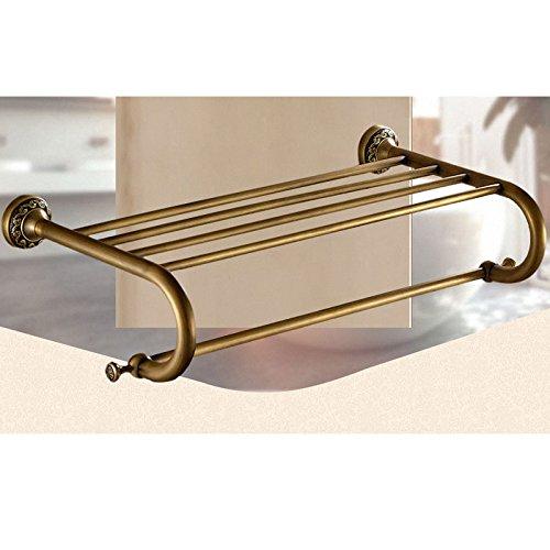 LUXYSOWERTIME Badezimmer Hardware Set Antik Messing geschnitzt Dusche Shampoo Korb Wand montiert Handtuchhalter Papierhalter Badezimmer Zubehör Set Bath Towel Rack -