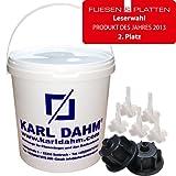 Fliesen Nivelliersystem von KARL DAHM – das Original, Basis Set 12450, für Fliesen von 3-12mm, Profi Qualität vom deutschen Marktführer