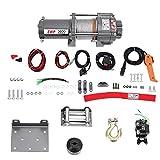 Verricello Elettrico, Argano Paranco Elettrico 12 V 3600 lbs per Auto Kit Set Potente,Camion, ATV, Barca, rimorchio, Fuoristrada