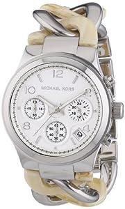Reloj Michael Kors MK4263 de cuarzo para mujer, correa de diversos materiales multicolor (cronómetro, agujas luminiscentes) de Michael Kors