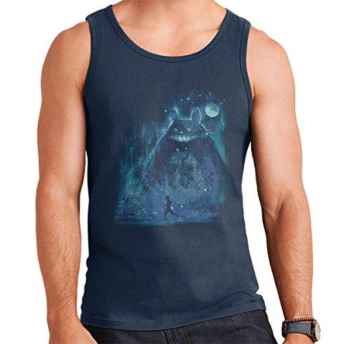 The Hidden Friend My Neighbor Totoro Men's Vest Navy Blue