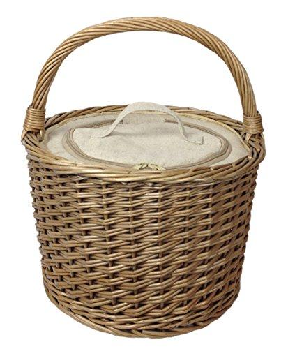 Red Hamper Unisex Runde Chiller Picknick-Korb, Braun, Medium Picknickkorb Größen: (L x B x H) 40 x 36 x 25 cm - Flasche Chiller