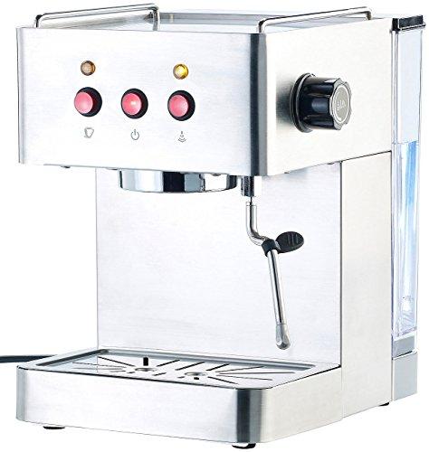 Cucina di Modena Kaffeemaschinen: Siebträger-Espressomaschine ES-1300 mit Milchschäumer...