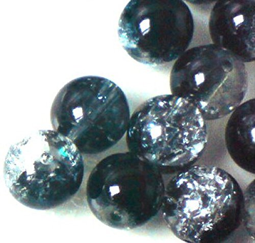 100-pieces-6mm-crackle-glass-beads-black-clear-a1609-by-k2-accessories-crackle-glass-beads