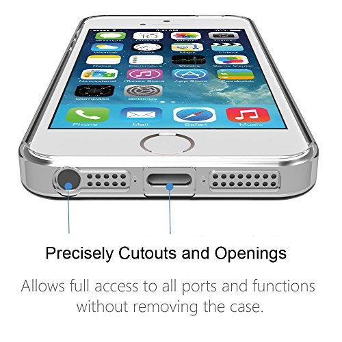 iPhone SE Hülle , iPhone 5 Hülle , iPhone 5s Hülle , iPhone SE 5 5s Silikon Hülle , ivencase Transparent Handyhülle Schutzhülle TPU Clear Case Backcover Bumper Slimcase Etui Tasche für Apple iPhone 5  aj48