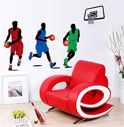 ott spielt Basketball Wandtattoos Familienjungen entfernen PVC Wandtattoos 43x49cm ()