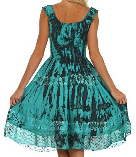 Sakkas Delilah Robe Paysanne Gitane Boho Turquoise