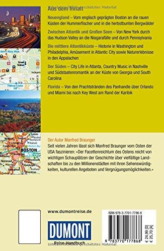 DuMont Reise-Handbuch Reiseführer USA, Der Osten: mit Extra-Reisekarte -