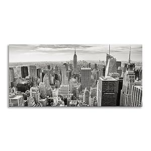 Excellent New York Skyline Schwarz Und Wei Manhattan Insel Panorama  Wandbild Auf Leinwand Druck Fr Wohnzimmer Badezimmer With New York Skyline  Schwarz Wei.