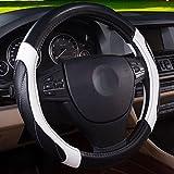 QLL Auto Lenkradbezug Vier Jahreszeiten Universal Breathable Slip Handschuhe,Blackwhite,38Cm