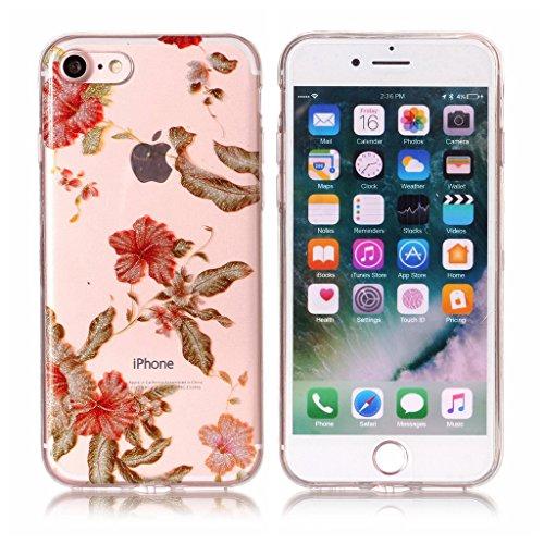 Per iPhone 7 Cover , YIGA Moda panda Cristallo Trasparente Silicone Morbido TPU Case Caso Shell Protezione Copertura Custodia Copertina per Apple iPhone 7 (4.7) XS57