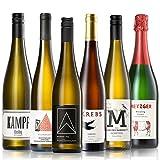 GEILE WEINE Weinpaket RIESLING (6 x 0,75l) Deutscher Weißwein von Winzern aus dem Rheingau, der Pfalz, Saar und Rheinhessen