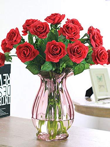 CHENGGI Diamant Malerei Diamant Stickerei Blumen Mosaik Muster Diamant Malerei Kreuzstich Rose Wandbilder Für Wohnzimmer Geschenk Round Drill,50 * 70Cm -