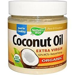 Nature's Way Très Natures Way Organic huile de coco vierge, 16 Ounce - 3 par cas.