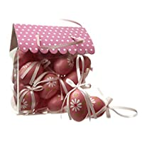 Set di 24rosa uova dalla Heaven Sends Pasqua gamma una bella confezione di 24uova di Pasqua decorate con fiori di primavera e la congruenza fiocco rosa. Perfetti per decorare un albero pasquale.