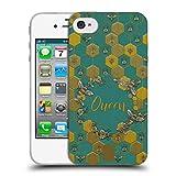 Head Case Designs Bienen Koenigin Gestickter Druck Zitate Soft Gel Hülle für iPhone 4 / iPhone 4S