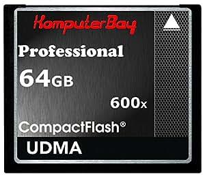 Komputerbay 64GB COMPACT FLASH CARD Professionelle CF 600X 90MB/s Extreme Speed   UDMA 6 RAW 64 GB