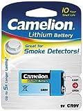 9V-Block-Batterie CAMELION Lithium, 1200mAh, ideal für z.B. Rauchmelder