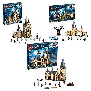 LEGO Harry Potter - Gran Comedor de Hogwarts (75954) +  Torre del Reloj de Hogwarts (75948) + Sauce Boxeador de Hogwarts (75953)