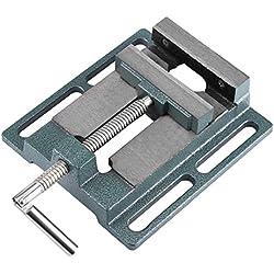 Etau pour Perceuse à Colonne Banc Pince Etau Ouverture Parallèle Table Etau, Ouverture de Mâchoire 110mm, Largeur de Mâchoire 20mm
