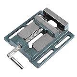 Schraubstock für Standbohrmaschine Bank Zange Schraubstock Öffnung Parallel Tisch Schraubstock, Backenbreite Öffnung 110mm, Backenbreite 20mm