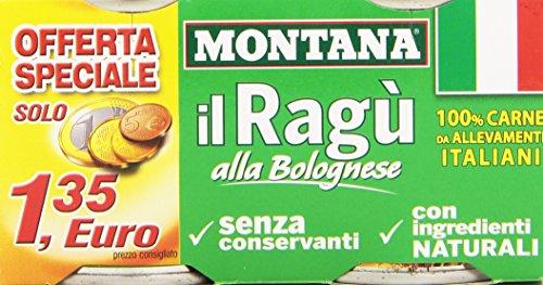 Montana - Carne, Da Allevamenti Italiani - 6 confezioni da 2 pezzi da 200 g [12 pezzi, 2400 g]