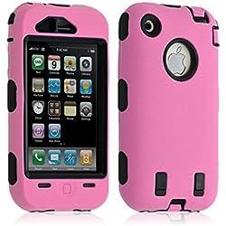 Housse étui coque pour Apple Iphone 3G / 3GS couleur rose + Film de protection