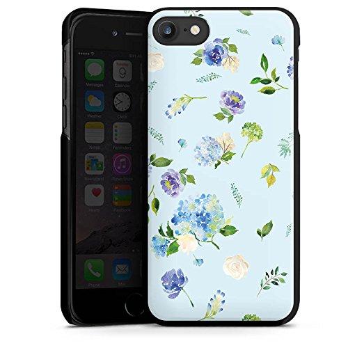 Apple iPhone X Silikon Hülle Case Schutzhülle Blumen Muster Sommer Hard Case schwarz