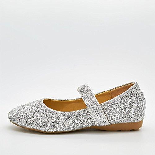 London Schuhe Dee Mini, Mädchen Ballerinas Silber