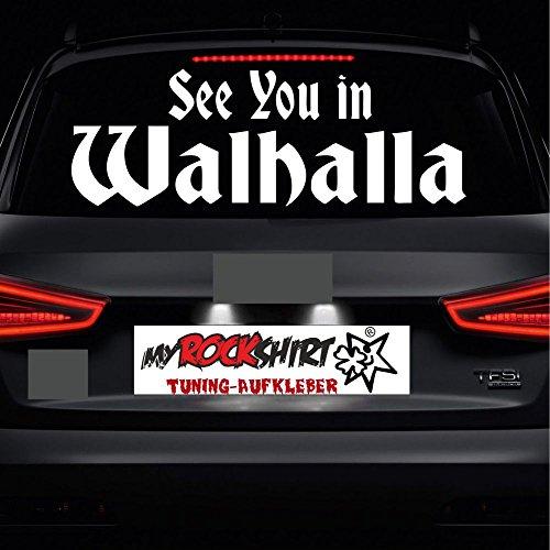 see you in Walhalla 80x30cm MRS.104 Aufkleber Tuning Auto Autoaufkleber freigestellt `+ Bonus Testaufkleber