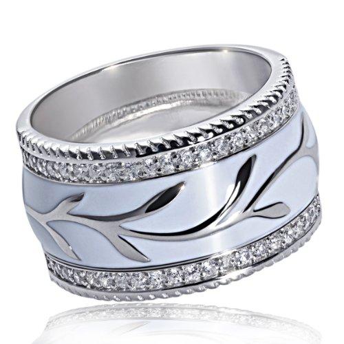 Goldmaid Damen-Ring 925 Sterling Silber Zirkonia Gr. 54 (17.2) Fa R5919S54 Schmuck