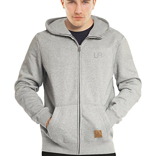 urban air | Zip Hoodie, Sweatjacke, Pullover-Jacke | Damen, Herren, Unisex | für Fitness und Freizeit | grau oder schwarz | S, M oder L (M, Street Classics grau)