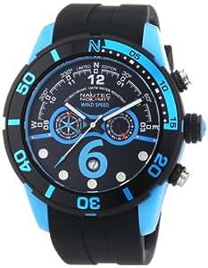 Nautec No Limit Herren-Armbanduhr XL Zero-Yon 2 Chronograph Quarz Kautschuk ZY2-6 QZ/RBPCBKBK-BL