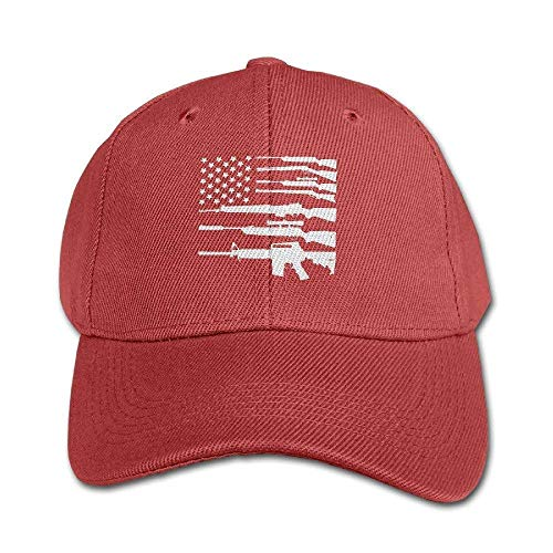 fboylovefor Gun American Flag Patriotic USA Pride Adjustable Washed Snapback Hat Fashion Truck Caps for Girl Boy